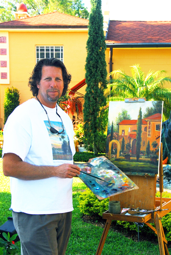 Peter Pettegrew at The Polesak Paintout